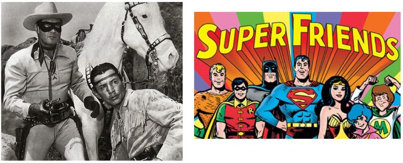 Lone ranger vs super friends