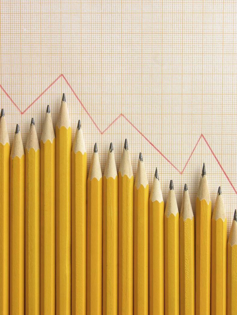 Downward graph of pencils
