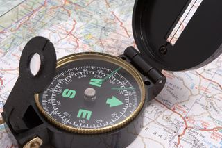Orientation map and compass